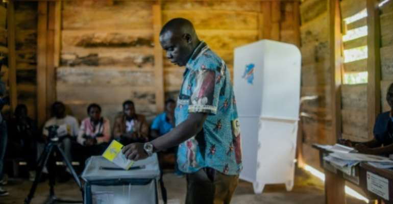 The election had been postponed in Beni because of conflict and an Ebola epidemic.  By Luke DENNISON (AFP)
