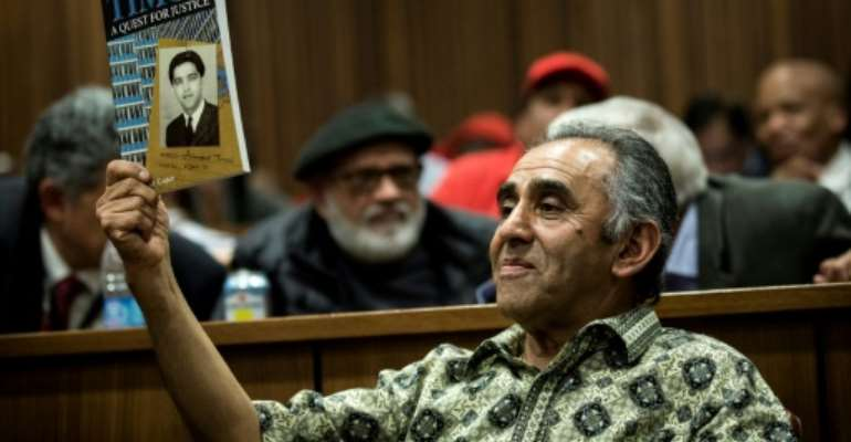 The family of Ahmed Timol, including his brother Mohamed, have fought to bring the anti-apartheid activist's alleged killers to justice.  By GULSHAN KHAN (AFP/File)