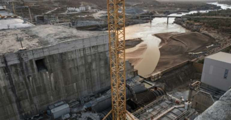 The Grand Ethiopian Renaissance Dam has been a source of conflict between Addis Ababa and Egypt and Sudan since construction began.  By EDUARDO SOTERAS (AFP)