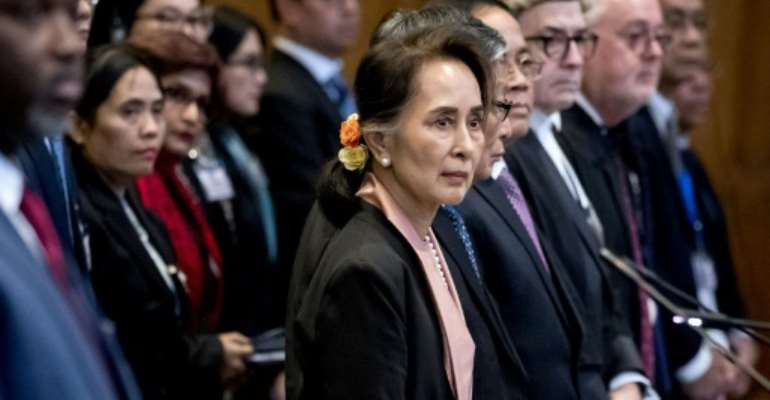 The ICJ has said it will deliver a decision on whether emergency measures should be imposed on Myanmar over alleged genocide.  By Koen Van WEEL (ANP/AFP/File)