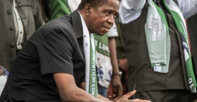 The inauguration of president Edgar Lungu is planned for September 13, 2016, after opposition tried to block it.  By  (AFP/Archives)