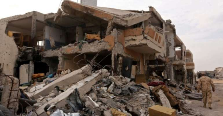 The Islamic State group was ousted from its Libyan stronghold of Sirte in 2016, but has continued to carry out attacks in the North African country.  By MAHMUD TURKIA (AFP/File)