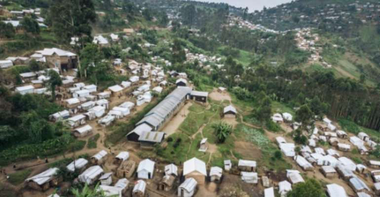 The Kalinga camp in Masisi Territory, eastern DR Congo, houses nearly 9,000 people who have fled their homes.  By ALEXIS HUGUET (AFP/File)