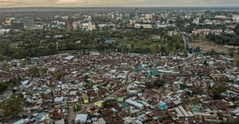 The Kibera slum in Nairobi. Coronavirus lockdowns will have a devastating impact on Africa's urban poor, say experts.  By FREDRIK LERNERYD (AFP)