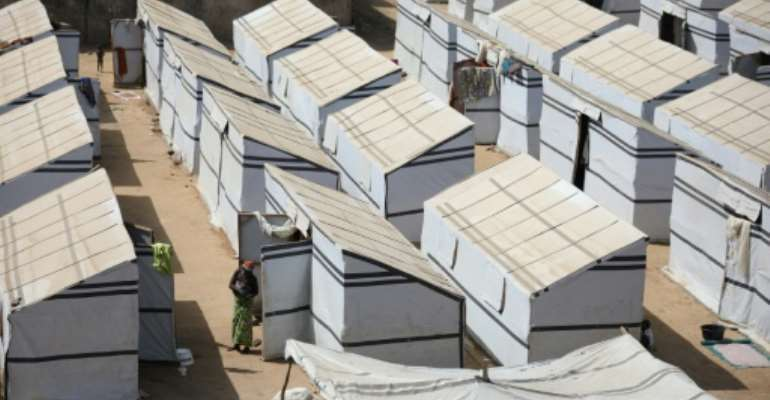 The latest influx follows bloodshed in the Nigerian states of Katsina, Sokoto and Zamfara. The picture shows a camp for internally displaced people in Zamfara.  By Kola Sulaimon (AFP)