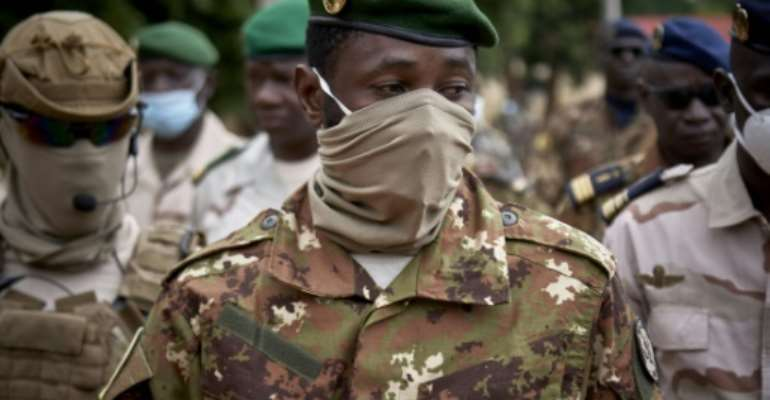 The leader of Mali's junta, Colonel Assimi Goita, has called on ECOWAS to lift its sanctions on the country.  By MICHELE CATTANI (AFP/File)