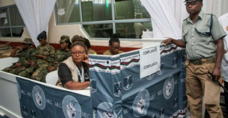 The Malawi electoral body received 147 complaints about Tuesaday's presidential vote.  By AMOS GUMULIRA (AFP)