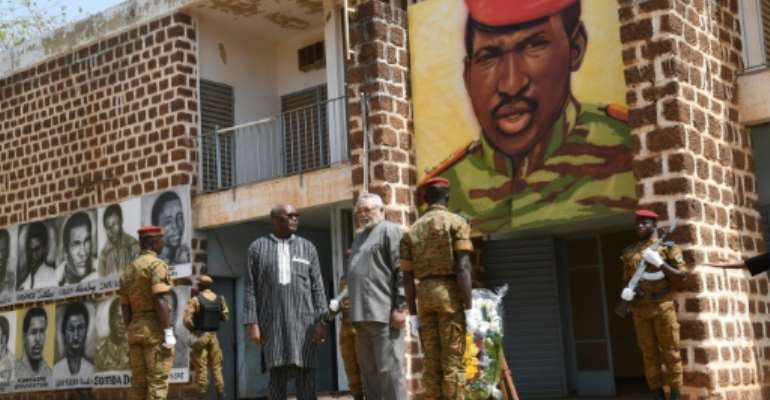 The memorial has become a symbol of the rehabilitation of Thomas Sankara, whose life and legacy had become a taboo during the 27-year reign of his former friend and comrade-in-arms Blaise Compaore.  By ISSOUF SANOGO (AFP/File)