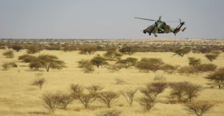 The mid-air collision involved a model of the Tiger helicopter, seen here in this picture taken in northern Mali on November 8.  By MICHELE CATTANI (AFP)