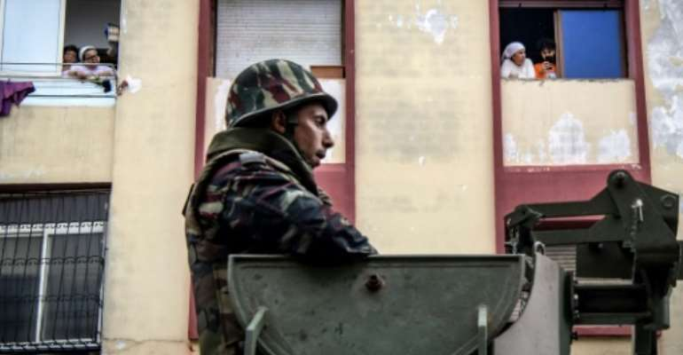 The Moroccan military has deployed personnel in the streets to instruct people to remain at home.  By FADEL SENNA (AFP)