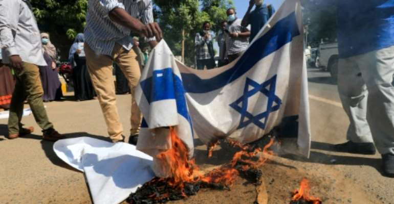 The normalisation of Sudan's relations with Israel remains controversial  in the African country, where it is widely seen as a betrayal of the Palestinian cause.  By ASHRAF SHAZLY (AFP/File)