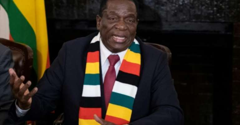 The poll held on Monday was the first after the repressive rule of Robert Mugabe and was won by Emmerson Mnangagwa, a former ally of the the ousted autocrat.  By MARCO LONGARI (AFP)