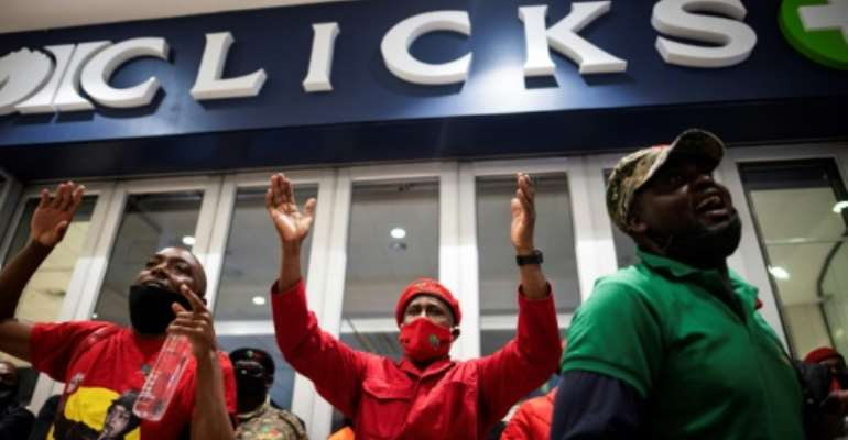 The protesters want the retail chain shut for five days.  By Luca Sola (AFP)