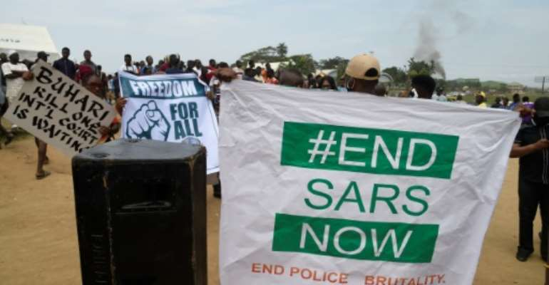 The protests in Nigeria initially called for the scrapping of the Special Ant-Robbery Squad (SARS).  By PIUS UTOMI EKPEI (AFP/File)