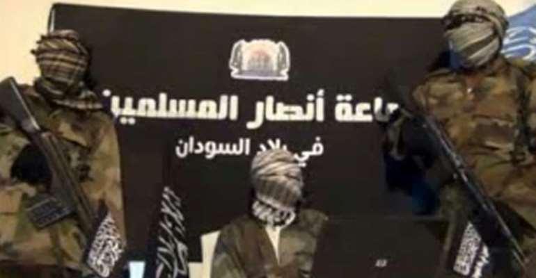 The radical Islamist group Ansaru was formed as a Boko Haram splinter group in 2012.  By  (JAMA'TU ANSARUL MUSLIMINA FI BIL/AFP)