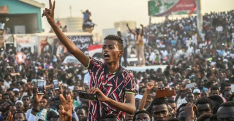 The rally outside Khartoum's army headquarters has continued for over two weeks despite the fall of longtime dictator Omar al-Bashir.  By OZAN KOSE (AFP)