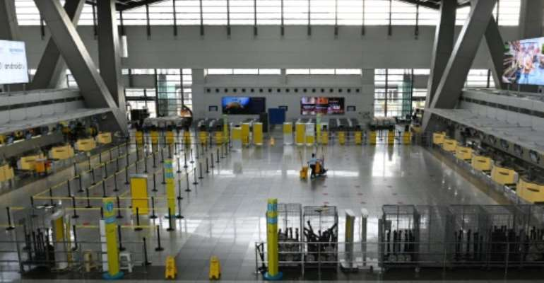 The reimposition of quarantine measures in the Philippines at short notice left many workers stranded.  By Ted ALJIBE (AFP)