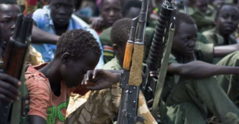 The released child soldiers will be housed in a government transit centre that will enable their re-integration into their families and communities.  By Charles Lomodong (AFP/File)