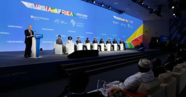 The Russia-Africa event at the Black Sea resort has brought together delegates to discuss everything from nuclear technology to mineral extraction.  By Mikhail METZEL (SPUTNIK/AFP)
