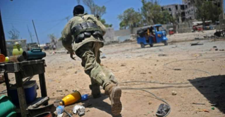 The Shabaab attackers died in a shootout as government forces fought back.  By MOHAMED ABDIWAHAB (AFP)