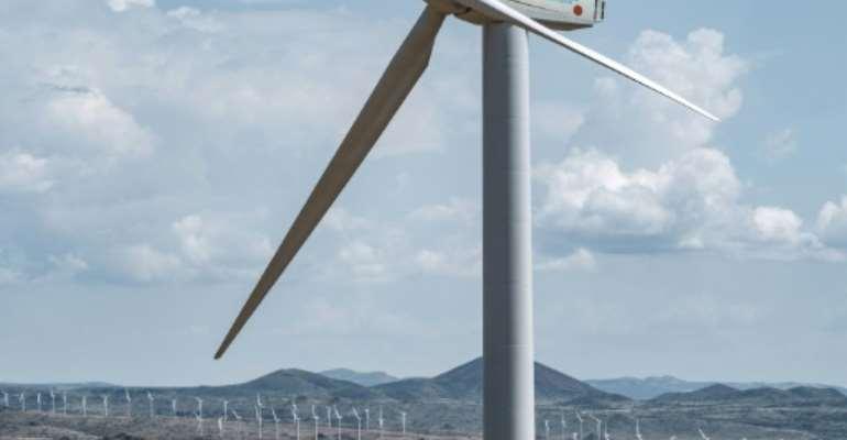 The sprawling 365-turbine wind farm is on the eastern shores of Lake Turkana.  By Yasuyoshi CHIBA (AFP/File)
