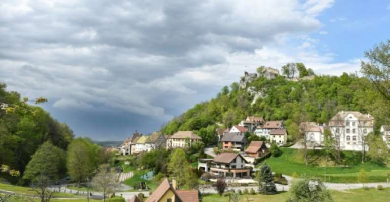 The tiny hilltop town of Ferrette lies in Alsace, a region where the far-right has gathered a sizeable following.  By SEBASTIEN BOZON (AFP)