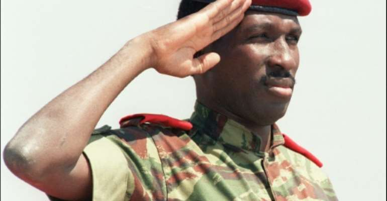 The trial will start nearly 34 years to the day since revolutionary leader Thomas Sankara was gunned down during a putsch led by erstwhile comrade Blaise Compaore.  By ALEXANDER JOE (AFP/File)