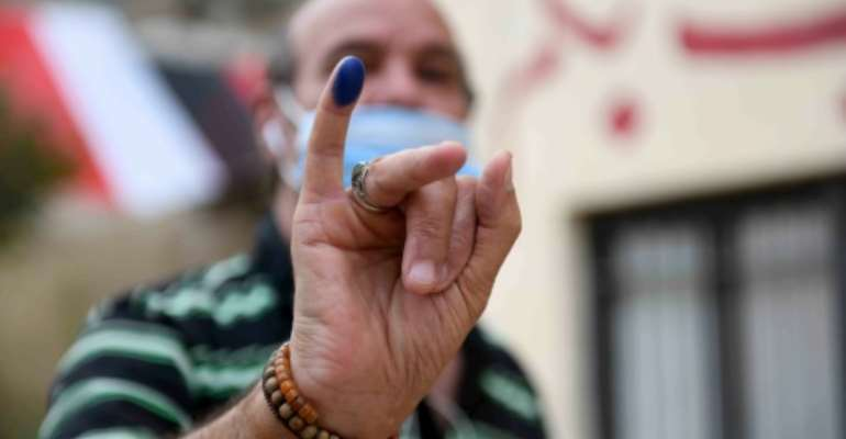 The two-day vote began Saturday and was held in 13 governorates, including Cairo, the Nile Delta and along the Suez Canal.  By Ahmed HASAN (AFP)