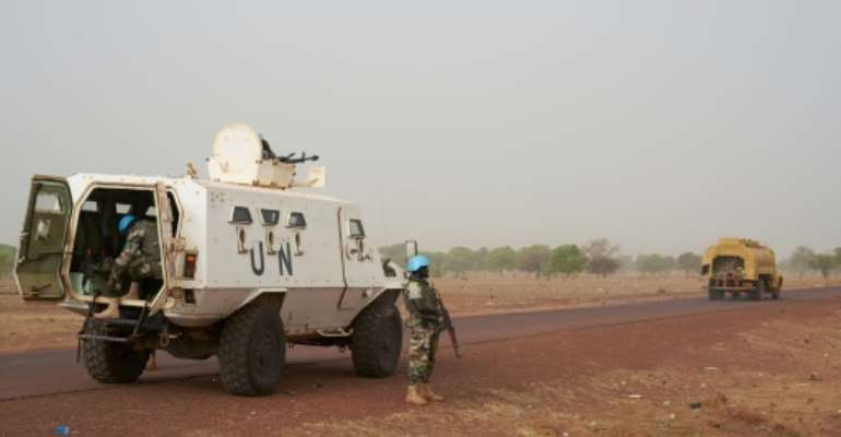The UN deployed peacekeepers to Mali in 2013 after a jihadist-backed insurgency erupted in the north of the country. Violence has since spread to the centre, inflamming long-running hostilities between ethnic groups.  By MICHELE CATTANI (AFP)