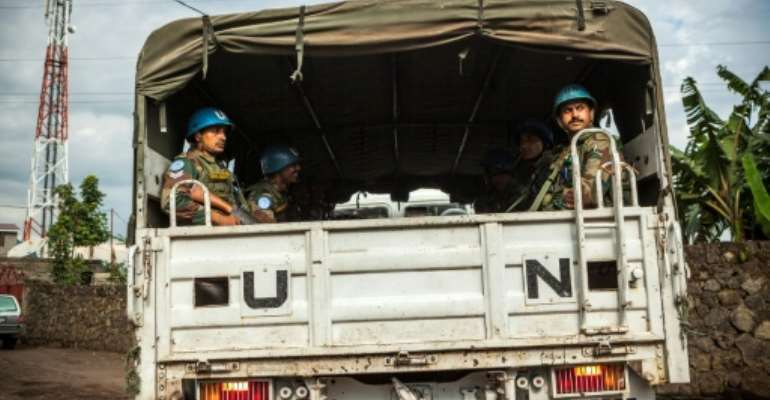The UN force of 19,815 uniformed personnel in DR Congo will be reduced to 18,316, according to a draft council resolution seen by AFP.  By Eduardo SOTERAS (AFP/File)
