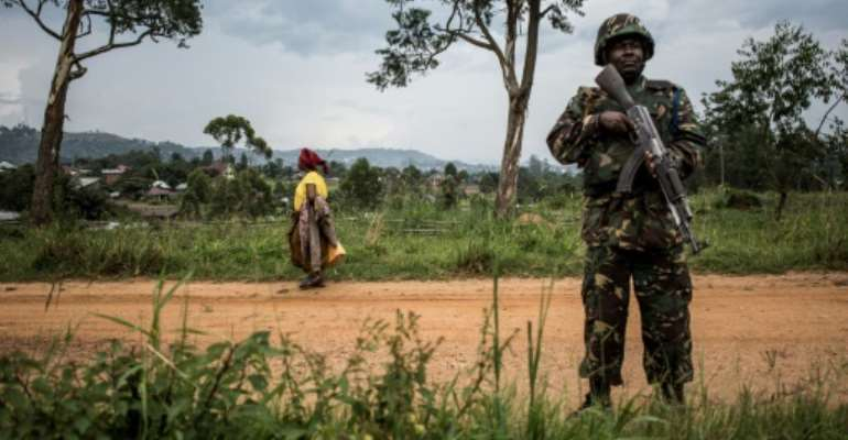The UN has deployed peacekeepers in eastern DR Congo to support the country's armed forces, but massacres of civilians are still taking place.  By John WESSELS (AFP/File)