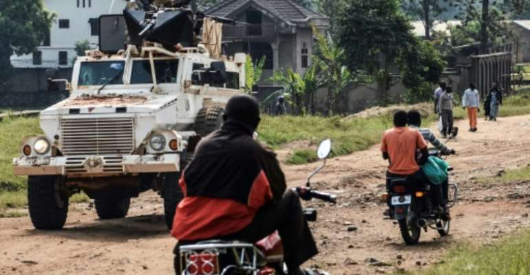 The UN mission MONUSCO has also been a target of popular anger over the ADF militia attacks.  By Alain WANDIMOYI (AFP)