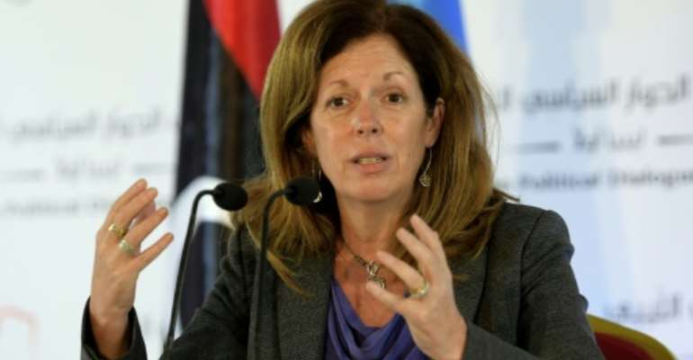 The UN's interim Libya envoy Stephanie Williams has vowed to push onwards in the process of naming an interim executive.  By FETHI BELAID (AFP)