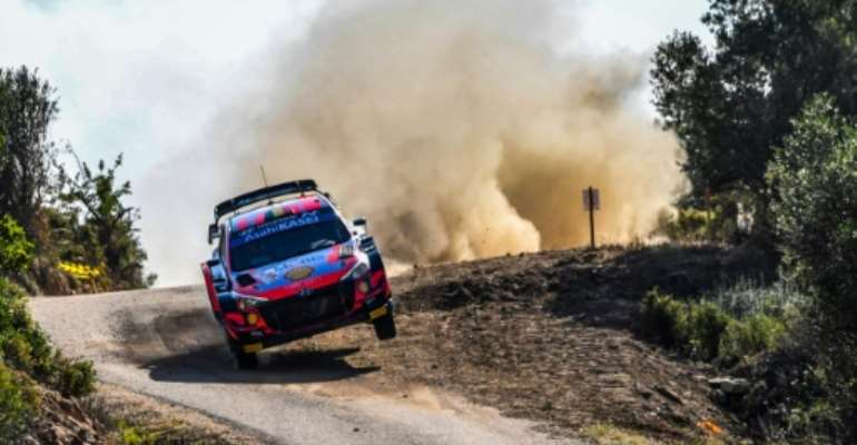Thierry Neuville steers his way to the lead in the Safari Rally after a challenging day which saw several rivals fall by the wayside.  By Andreas SOLARO (AFP)
