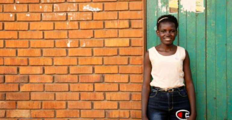 This Plan International photo released by the NGO Safer Cities shows 19 year-old Faridah in Kampala.  By HO (Plan International/AFP)