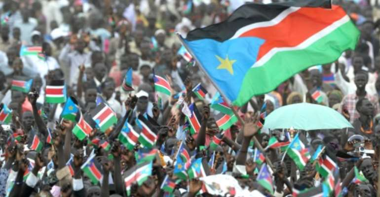 Thousands celebrated South Sudan's independence in July 2011 but the revelry was shortlived.  By Roberto SCHMIDT (AFP/File)