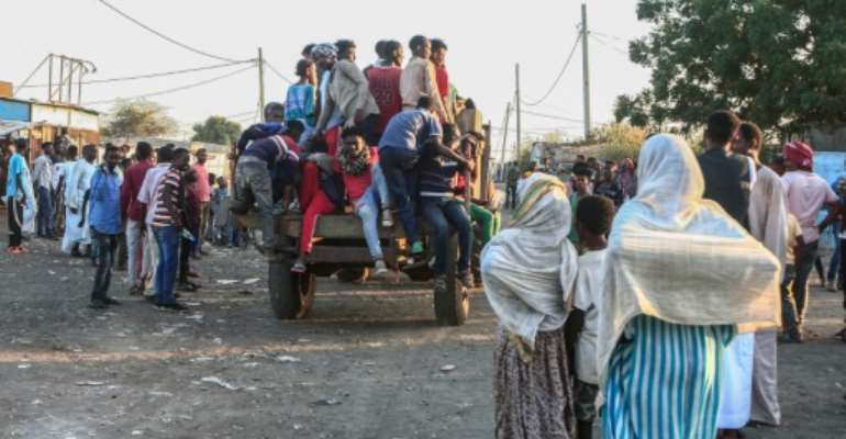 Thousands have fled to neighbouring Sudan.  By Ebrahim HAMID (AFP/File)