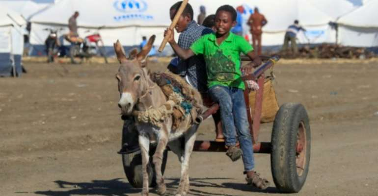 Thousands of Ethiopian refugees have fled the Tigray conflict and reached the Tenedba camp in Mafaza, eastern Sudan.  By ASHRAF SHAZLY (AFP)