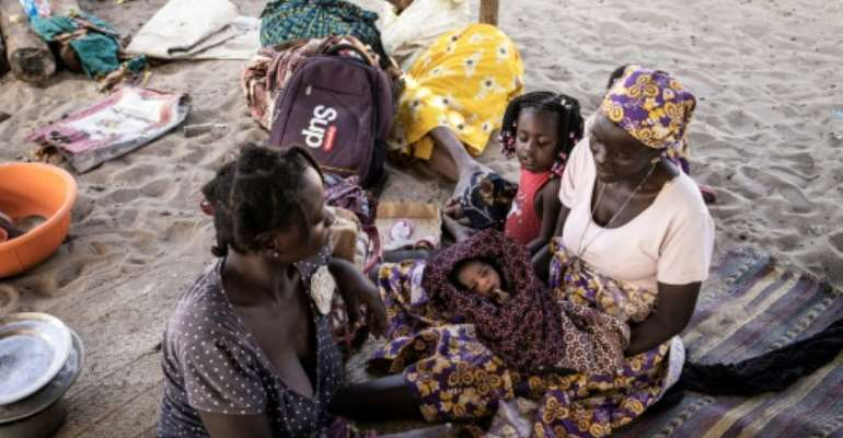 Thousands of people fleeing jihadist violence have taken shelter in the northern Mozambican town of Pemba.  By JOHN WESSELS (AFP)