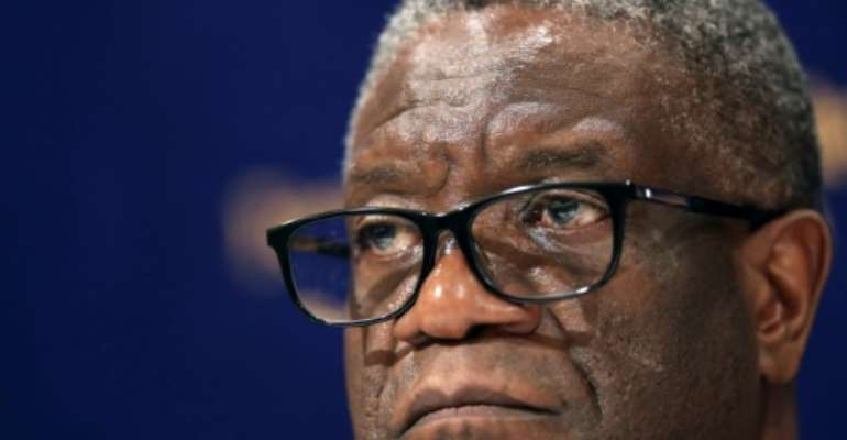 Threatened: Nobel laureate Denis Mukwege.  By Behrouz MEHRI (AFP/File)