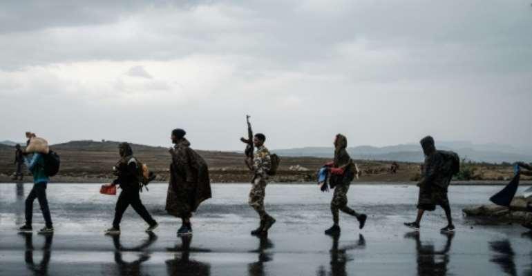 Tigrayan rebel forces retook the regional capital Mekele in late June.  By Yasuyoshi Chiba (AFP/File)