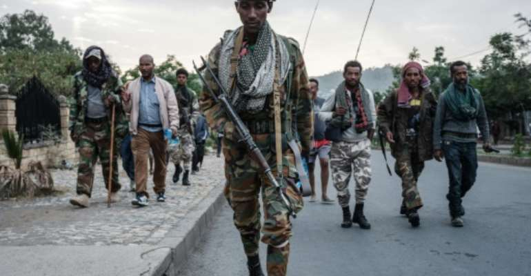 Tigrayan rebels seized the regional capital Mekele in late June in a stunning turnaround in the conflict.  By Yasuyoshi Chiba (AFP/File)