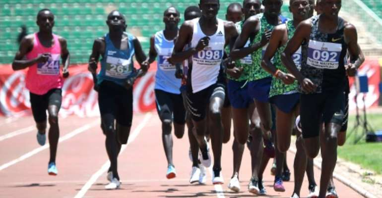 Timothy Cheruiyot led the 1,500m field home in the Kenya trials.  By SIMON MAINA (AFP)