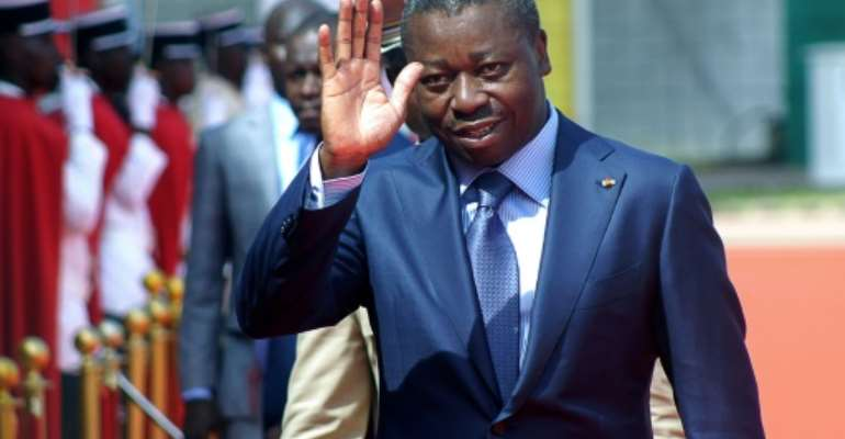 Togolese President Faure Gnassingbe pledged in November to talk with opposition groups but has kept silent on the matter since then.  By EMILE KOUTON (AFP/File)