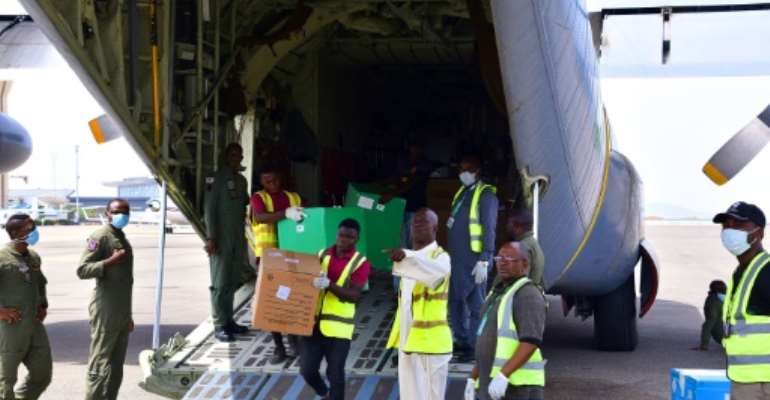 Top health official Abdulaziz Abdullahi said Nigeria has received 100,000 face masks, 1,000 protective gowns and 20,000 test kits.  By Kola SULAIMON (AFP)