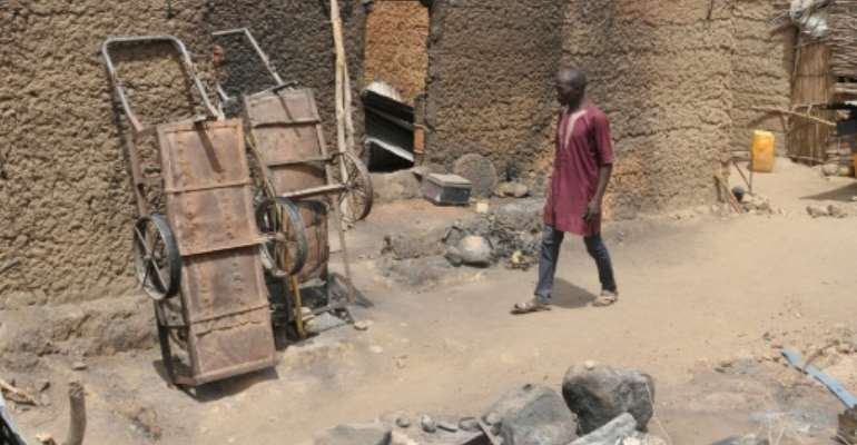 Torched homes in Zeleved, northern Cameroon -- the work of Boko Haram jihadists from Nigeria.  By Reinnier KAZE (AFP)