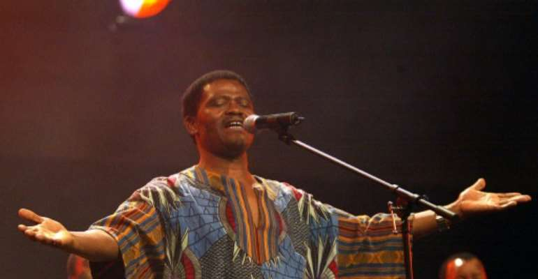 Trailblazer: Joseph Shabalala, founder of South Africa's Ladysmith Black Mambazo, pictured in 2002.  By ALEXANDER JOE (AFP/File)