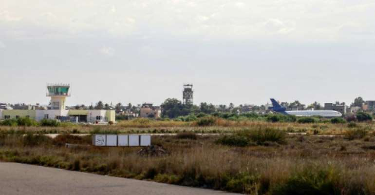 Tripoli's sole functioning airport Mitiga seen in this October 2019 picture has been hit by rocket fire many times as rival forces battle for the Libyan capital.  By Mahmud TURKIA (AFP/File)
