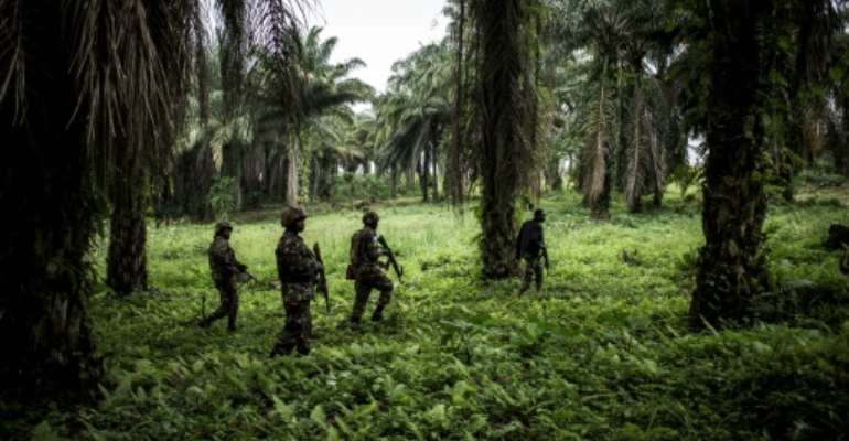 Troops from the UN's stabilisation force in the region began working with DR Congo forces against the militia in late October.  By John WESSELS (AFP/File)