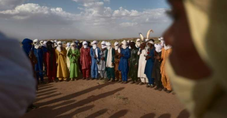 Tuareg and Wodaabe nomads attended an annual festival last week in Ingall, an oasis town and Niger's traditional gateway to the Sahara.  By Michele Cattani (AFP/File)